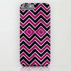 Pink Black Tribal Chevron iPhone 6s Slim Case