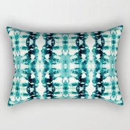 Tie-Dye Teals Rectangular Pillow
