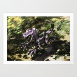 Brave Lizard Art Print