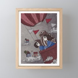 Through the Clouds and Back Again Framed Mini Art Print