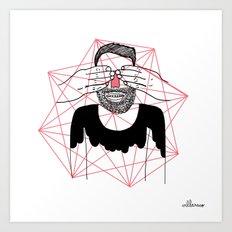 You close my eyes Art Print