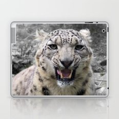 Angry snow leopard Laptop & iPad Skin