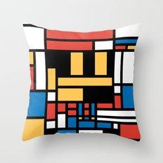 Super Mondrian Throw Pillow