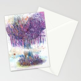 Mystical Tree Illustration Stationery Cards