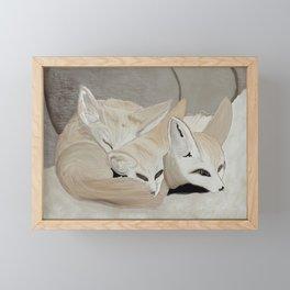 Fennec Foxes Framed Mini Art Print