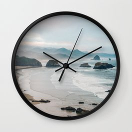 Alone in the beauty of the earth Wall Clock