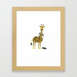 Tappy the giraffe Framed Art Print