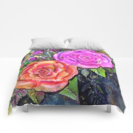 painting roses makes me EUPHORIC! Comforters