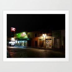 Morelia at Night Art Print