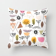 Mid-Century Awesome (Pink) Throw Pillow