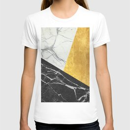 Marble and Gold Abstract T-shirt