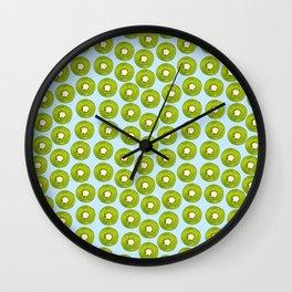 Kiwi Print - Blue BG Wall Clock