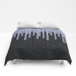 Destruction of the purple universe Comforters