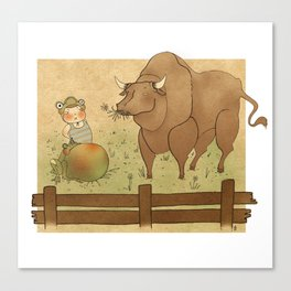 The frog and the ox Canvas Print