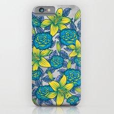 Flowers - Blue iPhone 6s Slim Case