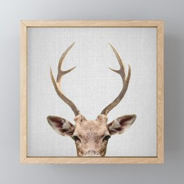 Deer - Colorful Framed Mini Art Print