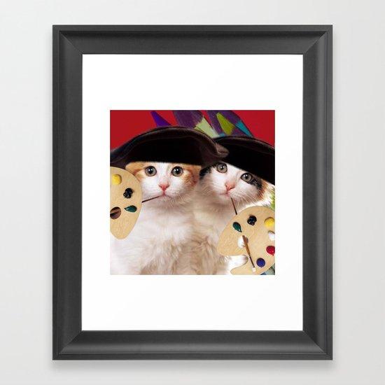 cateou twins Framed Art Print