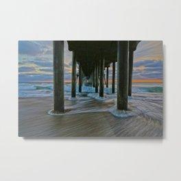 Surf City Sunset 11/29/14    Metal Print