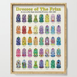 Dresses of The Frizz Serving Tray