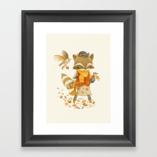 Rebecca the Radish Raccoon Framed Art Print