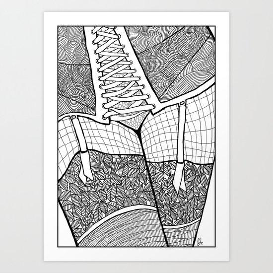 La femme 11 Art Print