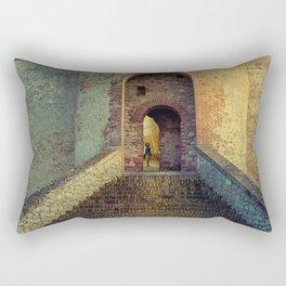 Medieval Fortress Rectangular Pillow