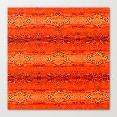 Orange Aztec Pattern 2 Canvas Print