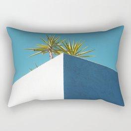 Cactus blue white Rectangular Pillow