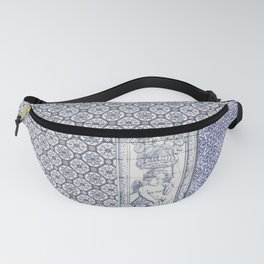 Tiles Angel Carrying Flowers Fanny Pack