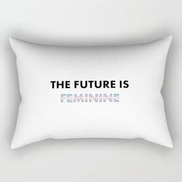 The Future Is Feminine - Female, Trans Rectangular Pillow