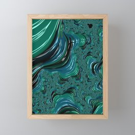 Blue and Turqouise Fractal Framed Mini Art Print