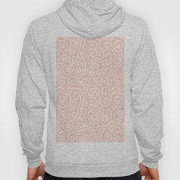 Abstract pastel pink ivory geometrical swirls pattern Hoody