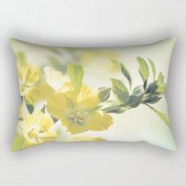 Primrose Willow wild flowers blossom Rectangular Pillow