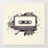 Cassette Canvas Print