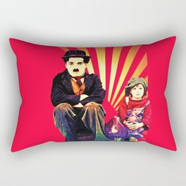 The Tramp and the Kid Rectangular Pillow