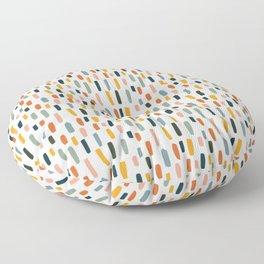 Rainbow Confetti Pattern Floor Pillow