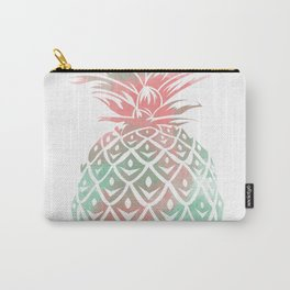 Mint and coral pineapple Carry-All Pouch