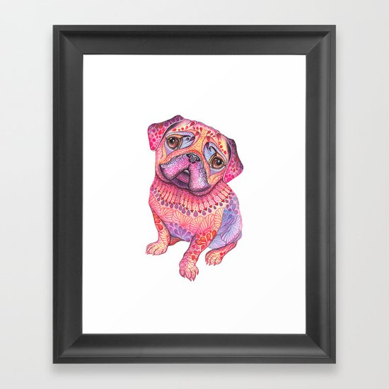 Pugberry Framed Art Print