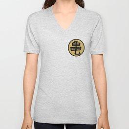 Kame kanji Unisex V-Neck