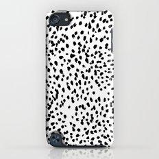 Nadia - Black and White, Animal Print, Dalmatian Spot, Spots, Dots, BW Slim Case iPod touch