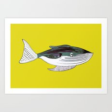 Whale, whale art, whale illustration, art, illustration, design, animal, whales, print, Art Print