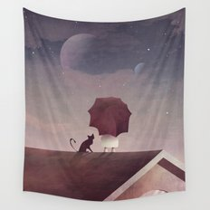 Twin Moon Wall Tapestry
