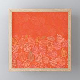 LEAVES ENSEMBLE ORANGE FLAME Framed Mini Art Print
