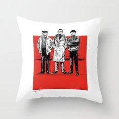 Three dudes Throw Pillow