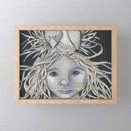 Girl Bird Forest Nymph  Framed Mini Art Print