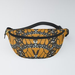 Monarch Butterfly Wings Abstract Patterned Print Fanny Pack