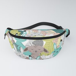 Easter rabbits pattern, sweet bunnies Fanny Pack