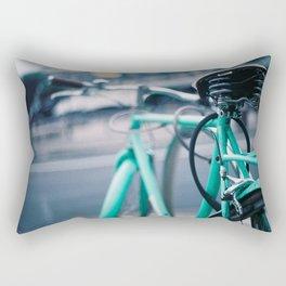 Riding Backwards Rectangular Pillow