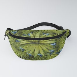 """El Bosco fantasy, tropical island blue butterflies"" Fanny Pack"