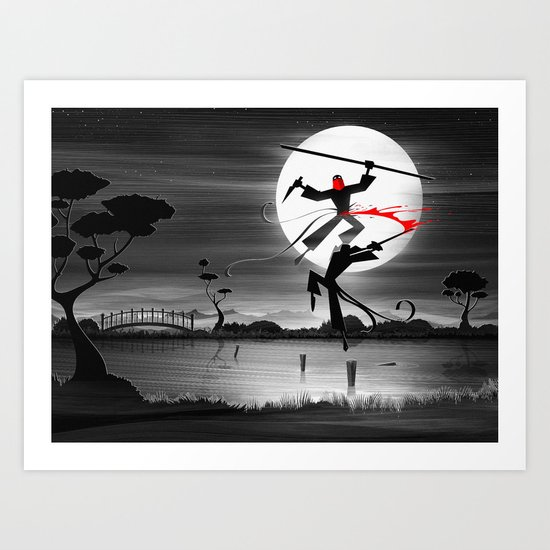 Blood, Over Water Art Print